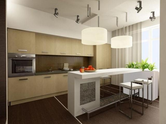 Дизайн кухни с барной стойкой: барная стойка на кухне, фото идеи
