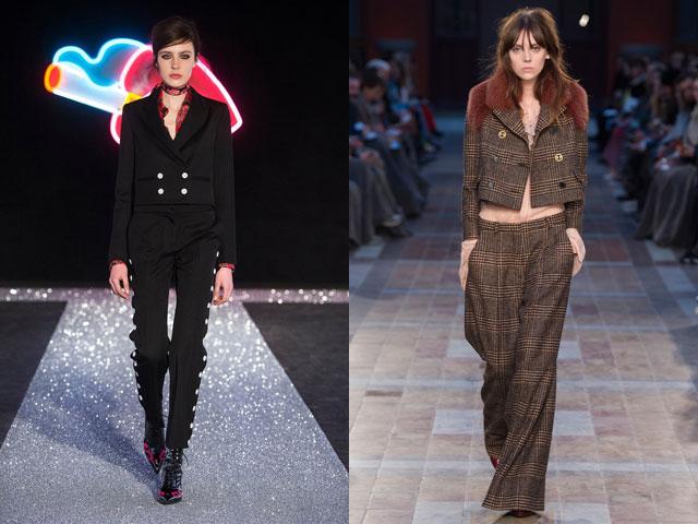 cbaeafdf5dc Короткий пиджак может едва прикрывать талию. Также вы можете встретить  женские костюмы с брюками с очень ...