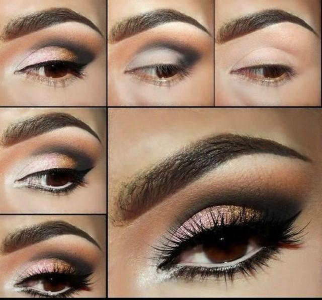 Красивый дневной макияж глаз поэтапно 52
