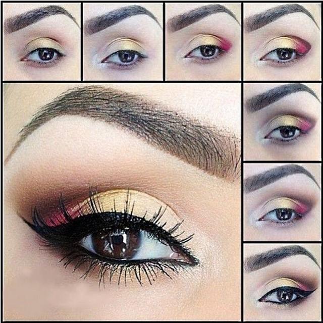 Подбираем красивый вечерний макияж глаз - фото, новинки, пошаговые уроки