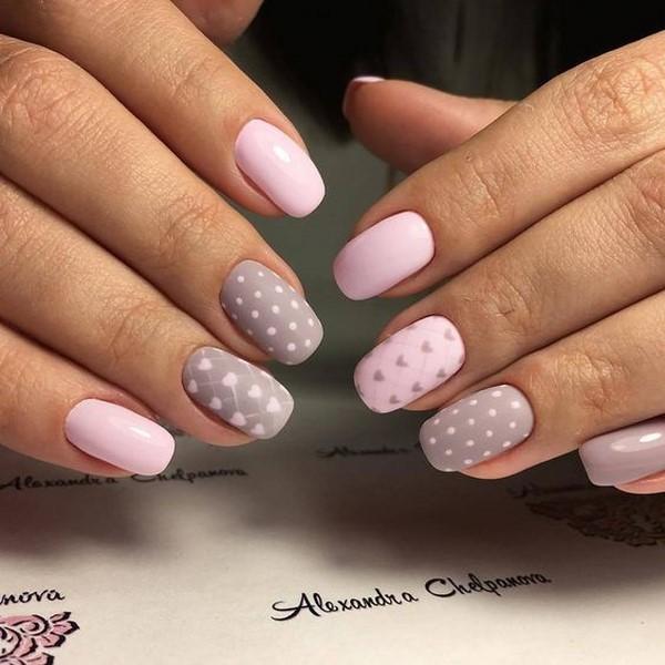 Красивые рисунки на ногтях для начинающих, простые 9