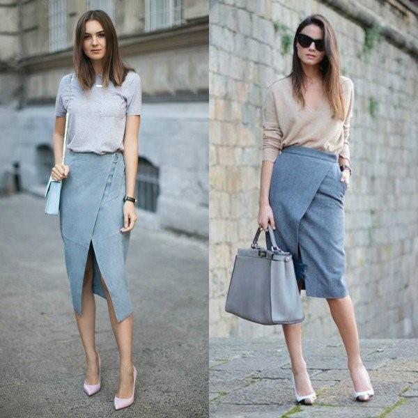 Модная юбка карандаш