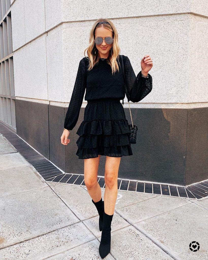 Модное маленькое черное платье 2020-2021 – как и с чем носить, фото, образы