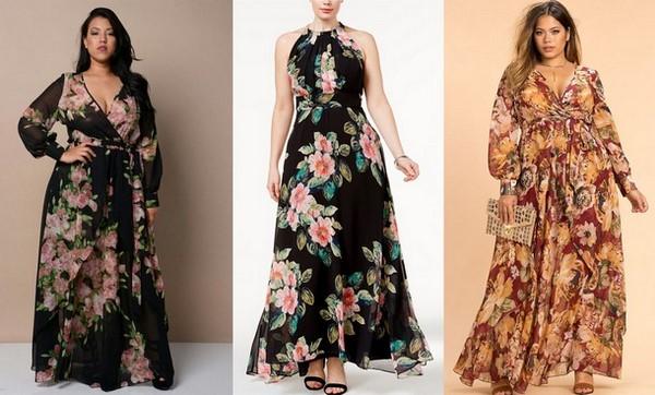 8e4da47be9c Модные фасоны платья для полных 2019-2020 – фото красивых платьев больших  размеров для девушек и женщин
