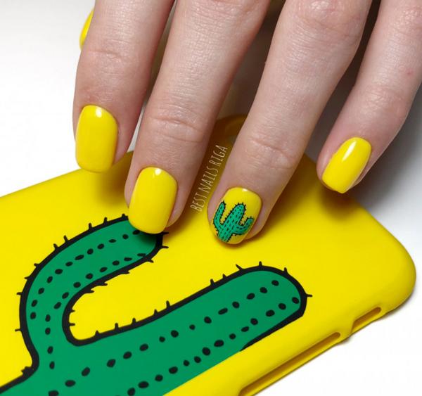 Встречаем весну и лето с желтым маникюром! Самые яркие идеи желтого дизайна ноготков