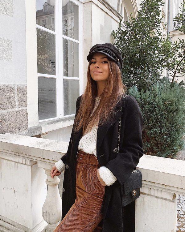Обворожительные женские шляпы и кепки в осенне-зимних образах 2020-2021 года: модные новинки