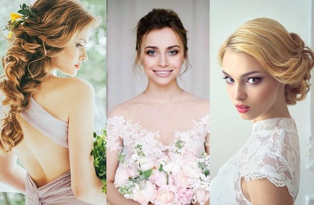 Невеста прически 2017-2018 на средние волосы