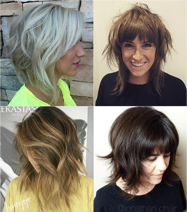 Эффектные стрижки на средние волосы 2017